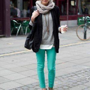 🌴 NEW Twiggy London Pants Women 16W Teal Elastic